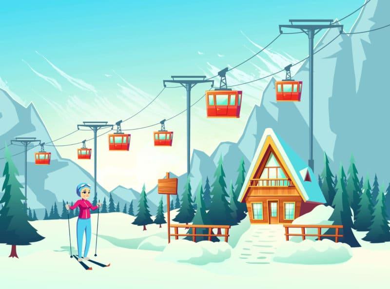 Carte des stations de ski en france