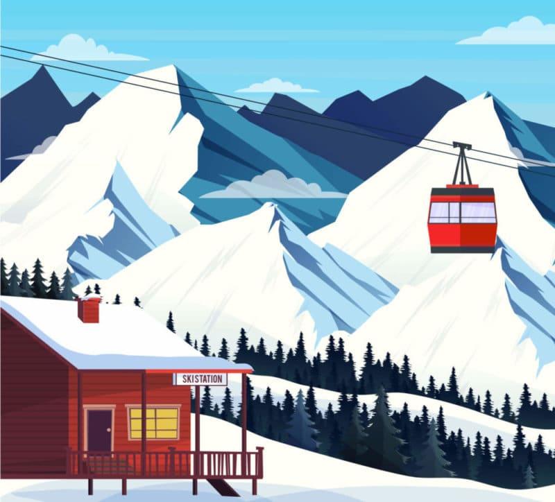 Carte des stations de ski des alpes du sud