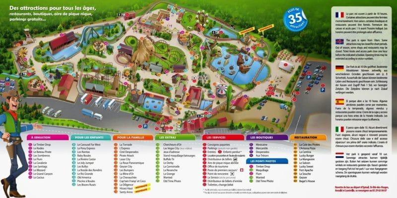 Les meilleurs parcs d'attractions de France, Carte et infos. 41