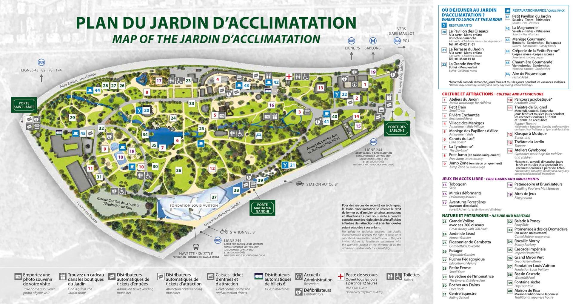 Les meilleurs parcs d'attractions de France, Carte et infos. 57