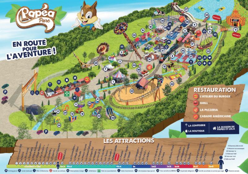 Les meilleurs parcs d'attractions de France, Carte et infos. 93