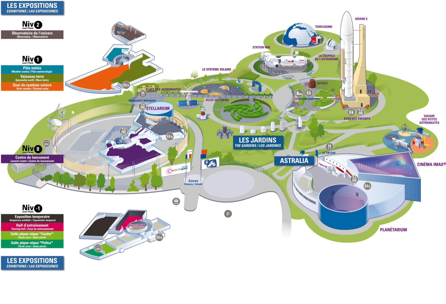 Les meilleurs parcs d'attractions de France, Carte et infos. 53
