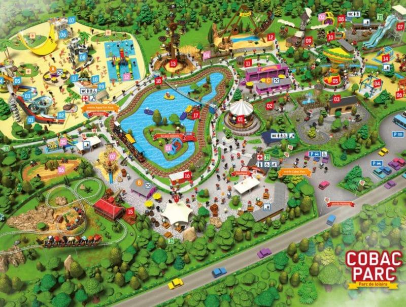 Les meilleurs parcs d'attractions de France, Carte et infos. 25
