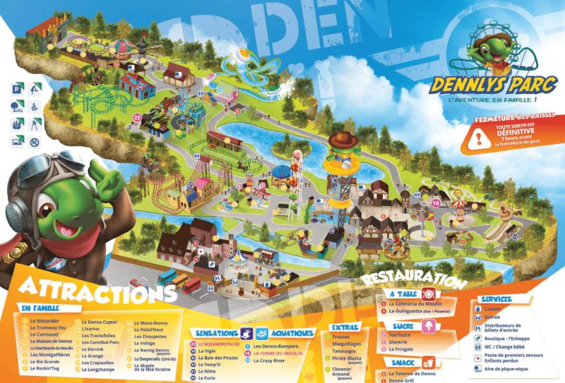 Les meilleurs parcs d'attractions de France, Carte et infos. 29
