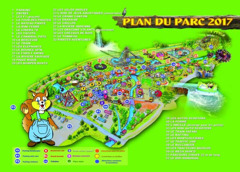 Les meilleurs parcs d'attractions de France, Carte et infos. 33