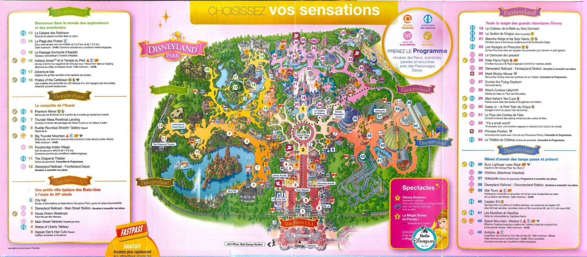 Les meilleurs parcs d'attractions de France, Carte et infos. 5