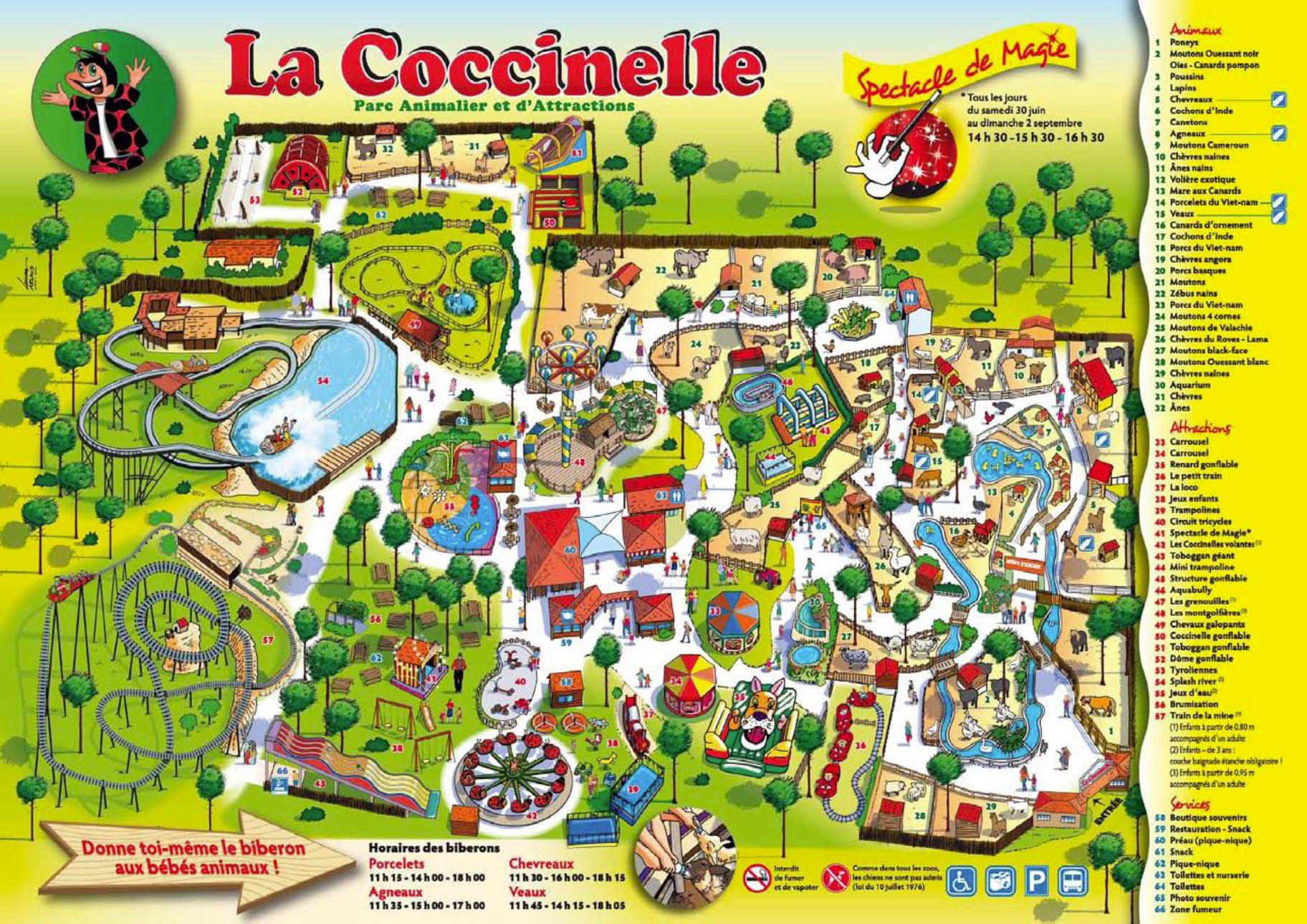 Les meilleurs parcs d'attractions de France, Carte et infos. 101