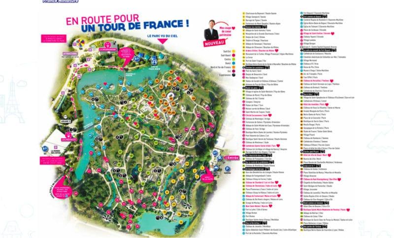 Les meilleurs parcs d'attractions de France, Carte et infos. 45