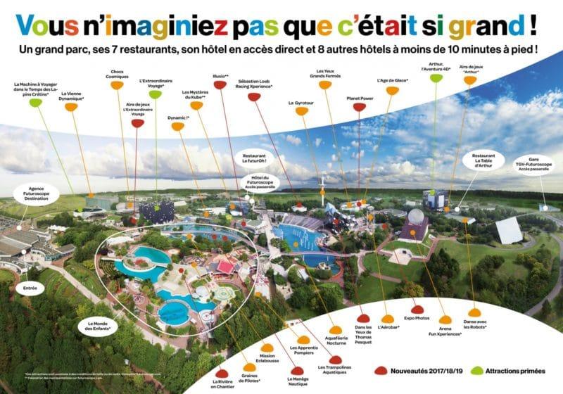 Les meilleurs parcs d'attractions de France, Carte et infos. 13