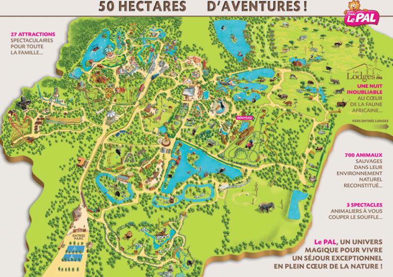 Les meilleurs parcs d'attractions de France, Carte et infos. 61