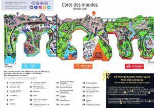 Les meilleurs parcs d'attractions de France, Carte et infos. 81