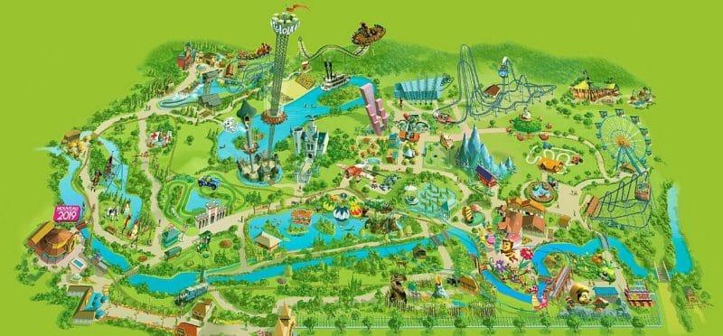 Les meilleurs parcs d'attractions de France, Carte et infos. 85