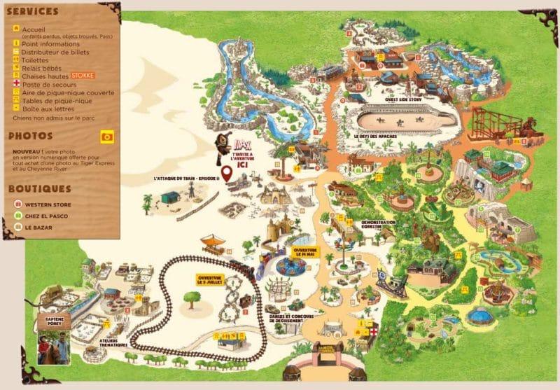 Les meilleurs parcs d'attractions de France, Carte et infos. 21