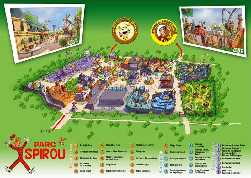 Les meilleurs parcs d'attractions de France, Carte et infos. 73