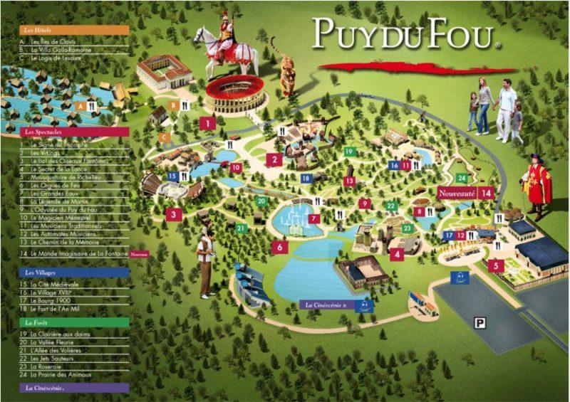Les meilleurs parcs d'attractions de France, Carte et infos. 17