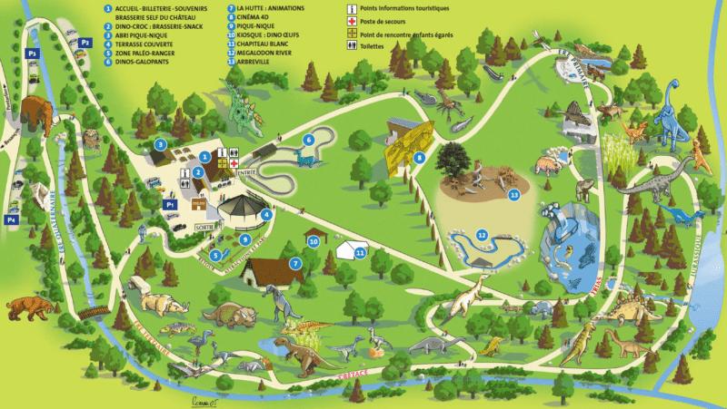 Les meilleurs parcs d'attractions de France, Carte et infos. 109