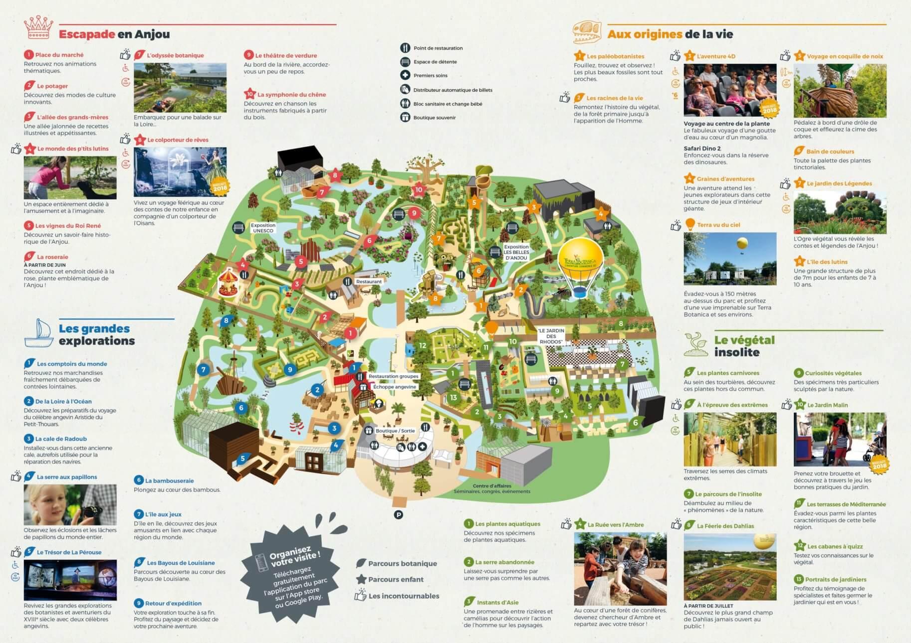 Les meilleurs parcs d'attractions de France, Carte et infos. 117