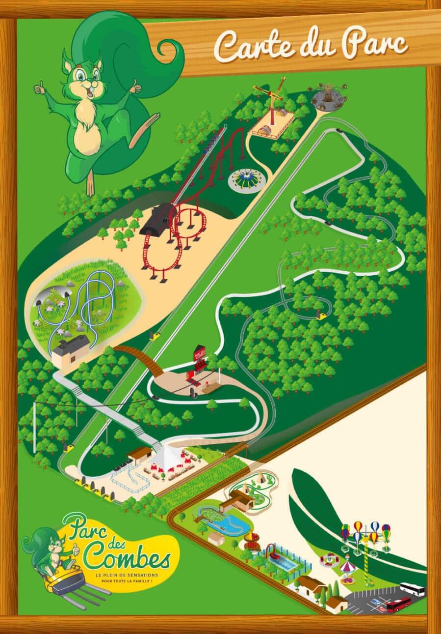 Les meilleurs parcs d'attractions de France, Carte et infos. 105