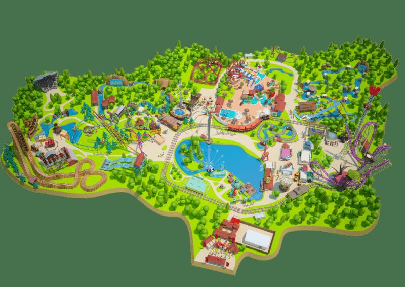 Les meilleurs parcs d'attractions de France, Carte et infos. 125