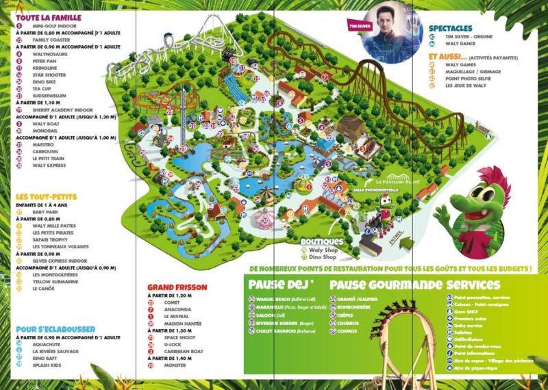 Les meilleurs parcs d'attractions de France, Carte et infos. 133