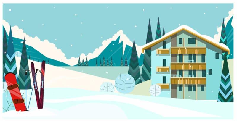 Carte des stations de ski du massif central