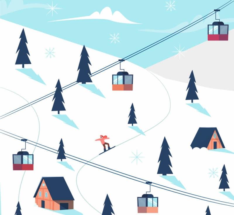 Carte des stations de ski des Vosges